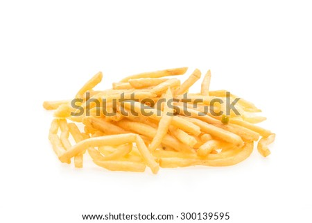 French fries isolated on white background