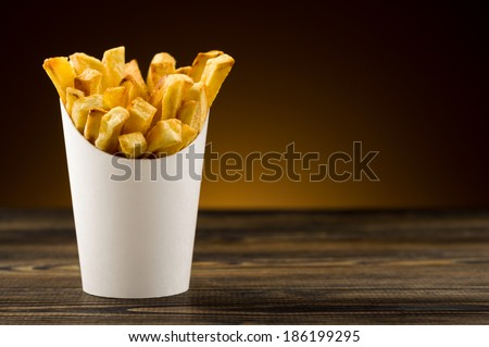 French fries packaging paper - stock photo