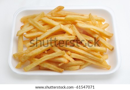 French fries potatoes. Fast food junkfood - stock photo