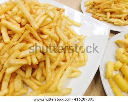 French Fries served on white dish