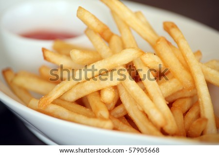 french fries snack - stock photo