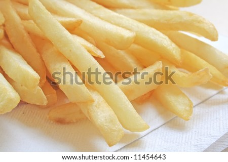 French Fries the tasty fast food meal on the menu