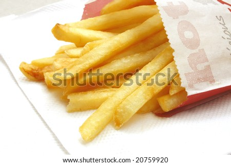 French Fries the ultimate Fast Food Snack of the masses - stock photo
