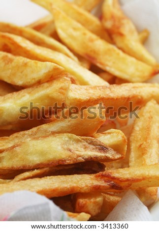 French fries, vertical composition