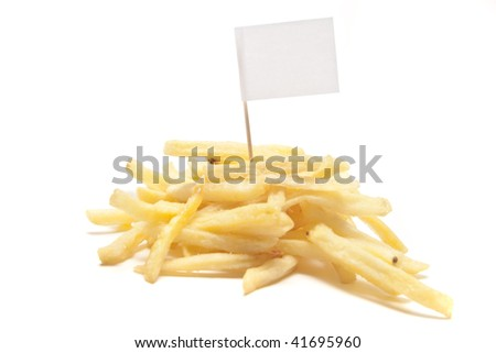 french fries with flag separated
