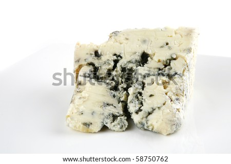 french gorgonzola soft cheese on white dish