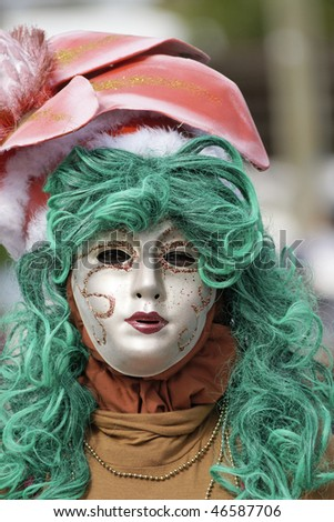 French Guiana's Annual Carnival February 07, 2010 - stock photo