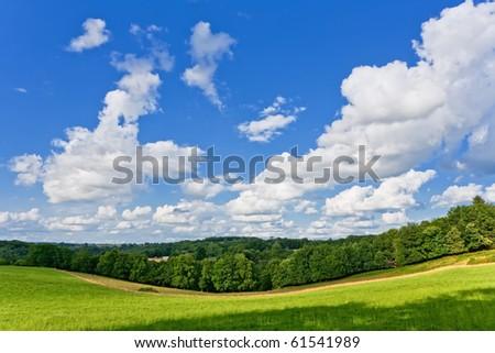 French landscape - stock photo