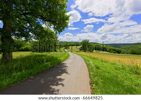 French landscape - stock photo