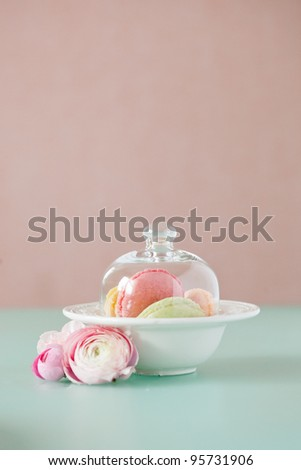 french macaron, the famous pastry - stock photo