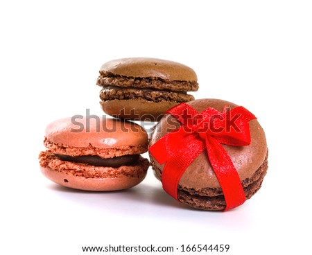 French macarons. Isolate on white background
