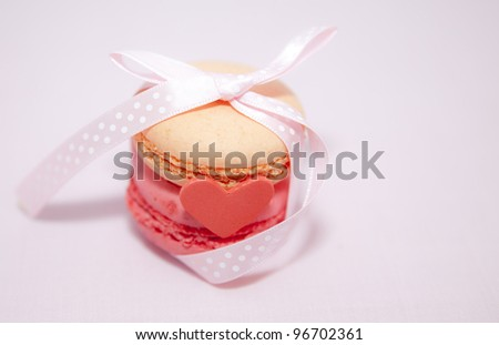 French macaroon gift - stock photo