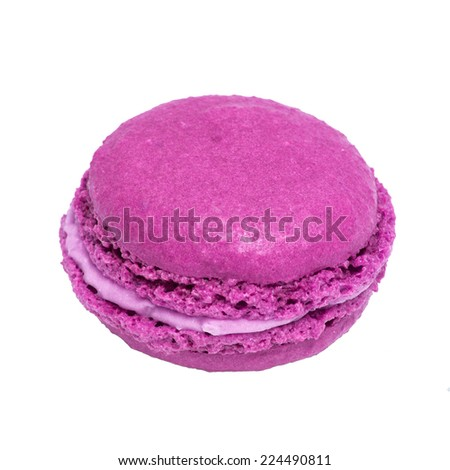 French macaroons. Tasty colorful macaroon. Dessert - stock photo