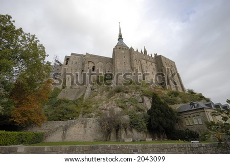 French Mont St-Michel - stock photo
