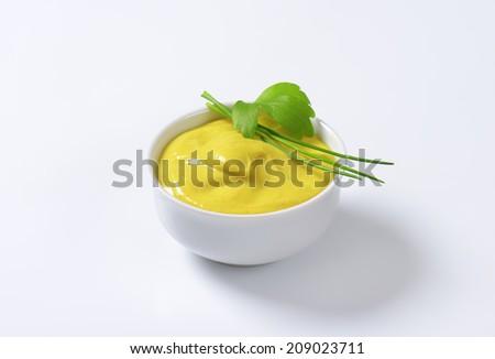 French mustard Dijon - stock photo