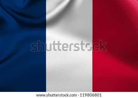 French national flag. - stock photo