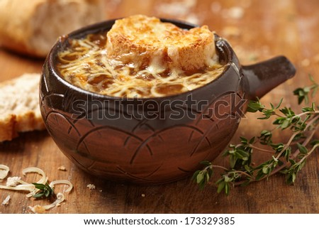 French onion soup - stock photo