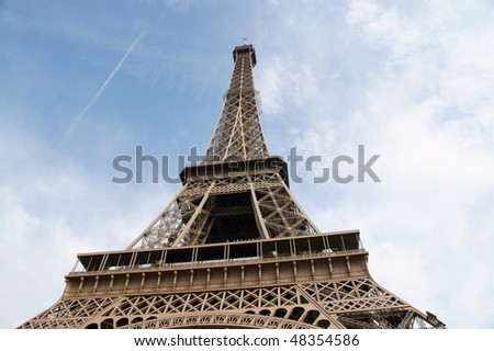 french Paris - Eiffel Tower, architecture construction - stock photo