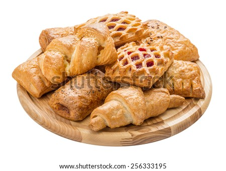 French pastries - stock photo