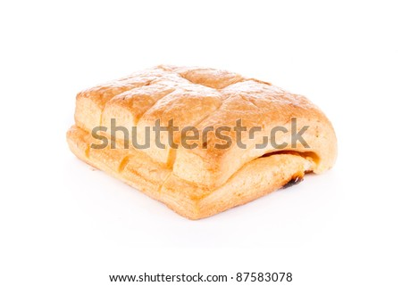 French pastry isolated on white background