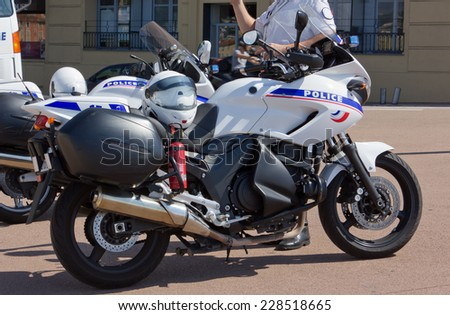 French Police Motorbikes - stock photo