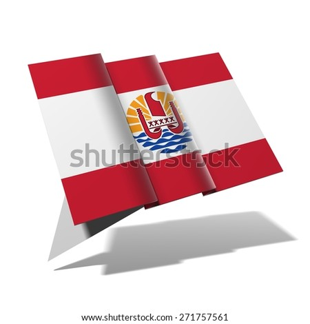 French Polynesia flag 3D banner - stock photo