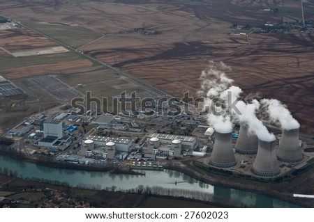 French power plant - stock photo