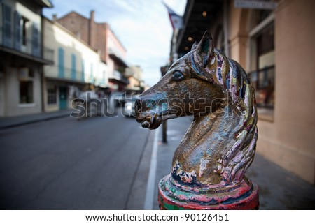 French Quarter in New Orleans, Louisiana. - stock photo