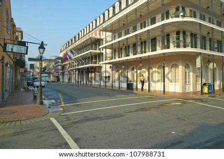 French Quarter of New Orleans, Louisiana, Bourbon Street - stock photo