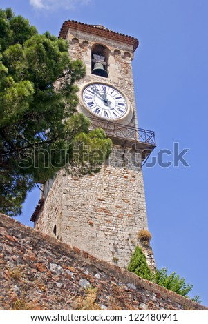 French riviera. Cannes, typical architecture of the old city - stock photo