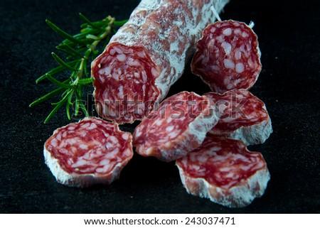 French Salami - stock photo