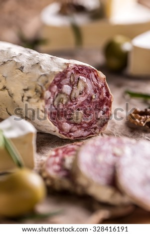 French salami with walnuts, air dried