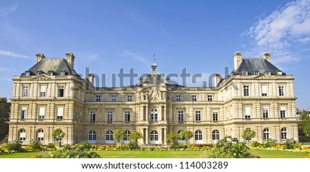French Senate, Jardin du Luxembourg, Paris - stock photo