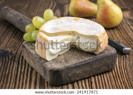 french soft cheese - stock photo