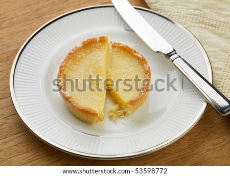 French style lemon tart - stock photo