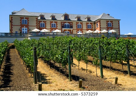 French style winery in Napa Valley - stock photo