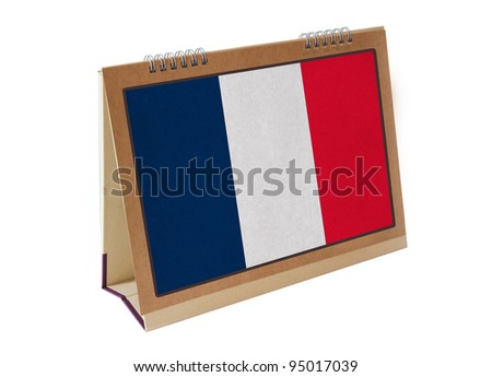 French table flag isolated - stock photo