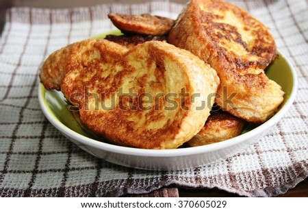 French toast - stock photo