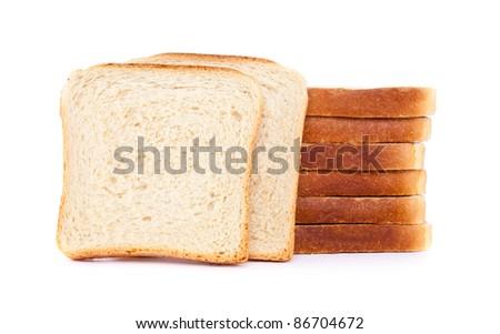 French Toast , isolated on white background - stock photo