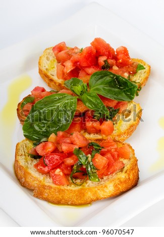 French toast with tomatoes (Italian Toasted Garlic Bread) with tomato