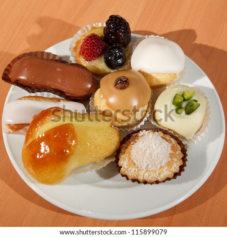 French traditional desserts - stock photo