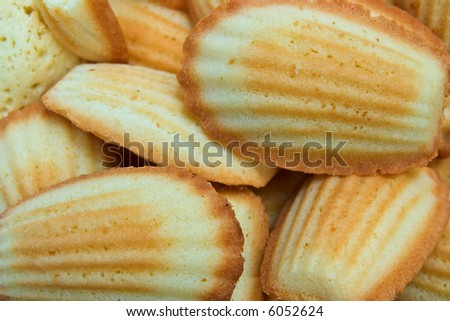 French traditional madeleines cookies - stock photo