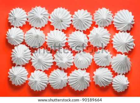 French vanilla meringue cookies. Look through my portfolio to find more images of the same series - stock photo