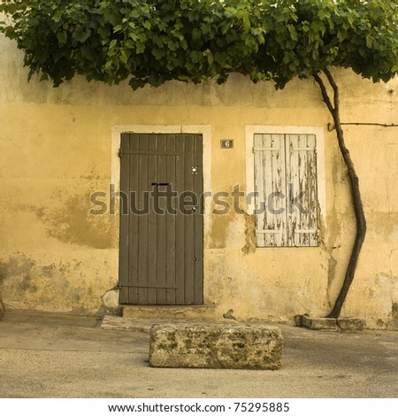 French village house with door. Provence. France - stock photo