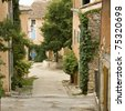French village in provence. France - stock photo