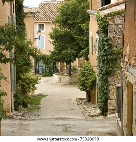 French village in provence. France