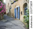 French Village street. Town in Provence. France - stock photo