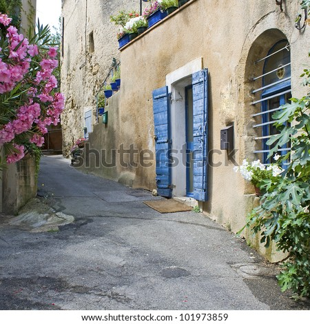 French Village street. Town in Provence. France