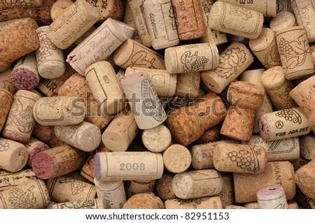 French wine corks - stock photo