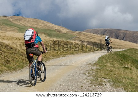 Frends cycling - stock photo